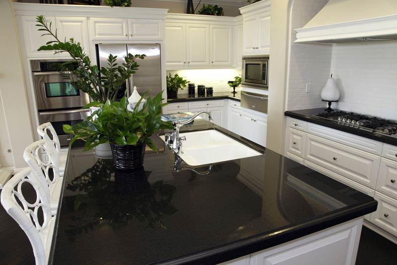 Granite Countertops MO Dark On White 11